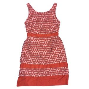 Leifsdottir Dress Sweet Tangelo Scalloped Coral